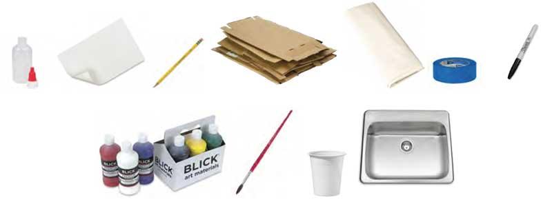 Toothpaste batik materials