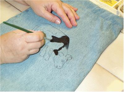 Make a folk art book bag out of a pair of old denim jeans. KinderArt.com