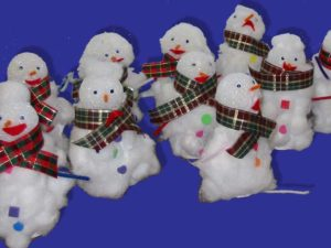 Toilet Paper Roll Snowman Craft. KinderArt.com