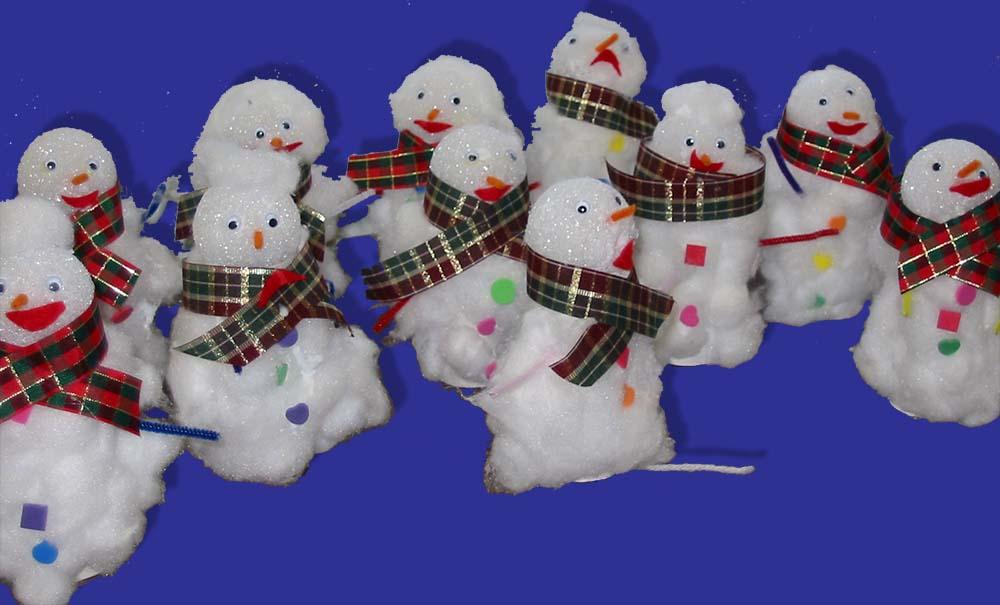 Snowman Sculpture For Christmas Monthly Seasonal Crafts Kinderart