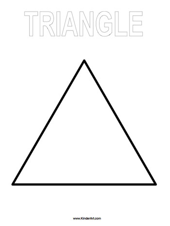 Triangle Coloring Page on Pinterest Bulletin Board Ideas