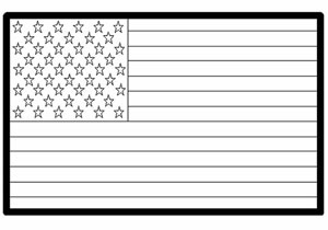 USA American Flag Coloring Page KinderArt