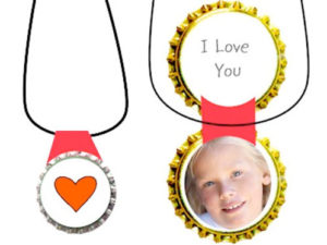 Bottle Cap Locket Craft. KinderArt.com