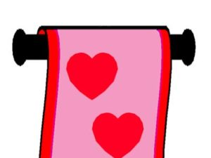 Bright Banners for Valentine's Day. KinderArt.com