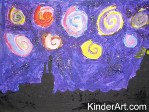 Van gogh's Starry night as created by a child