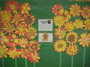 Van Gogh Sunflowers Bulletin Board