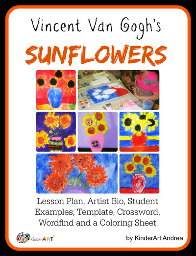 Van Gogh Sunflowers Lesson Plan Packet.
