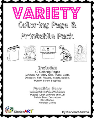 Variety Coloring Page Pack