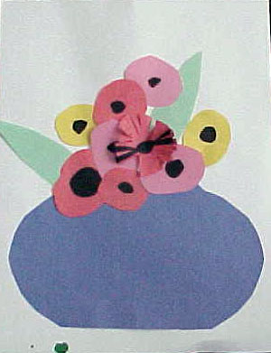 Cut and paste poppies.