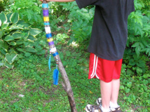 Make a colourful walking stick.