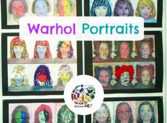 Andy Warhol style Pop Art Self Portraits Art Lesson Plan. KinderArt.com