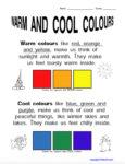 Warm Cool Color Worksheet Sample. KinderArt.com