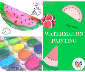 Watermelon Paintings art lesson
