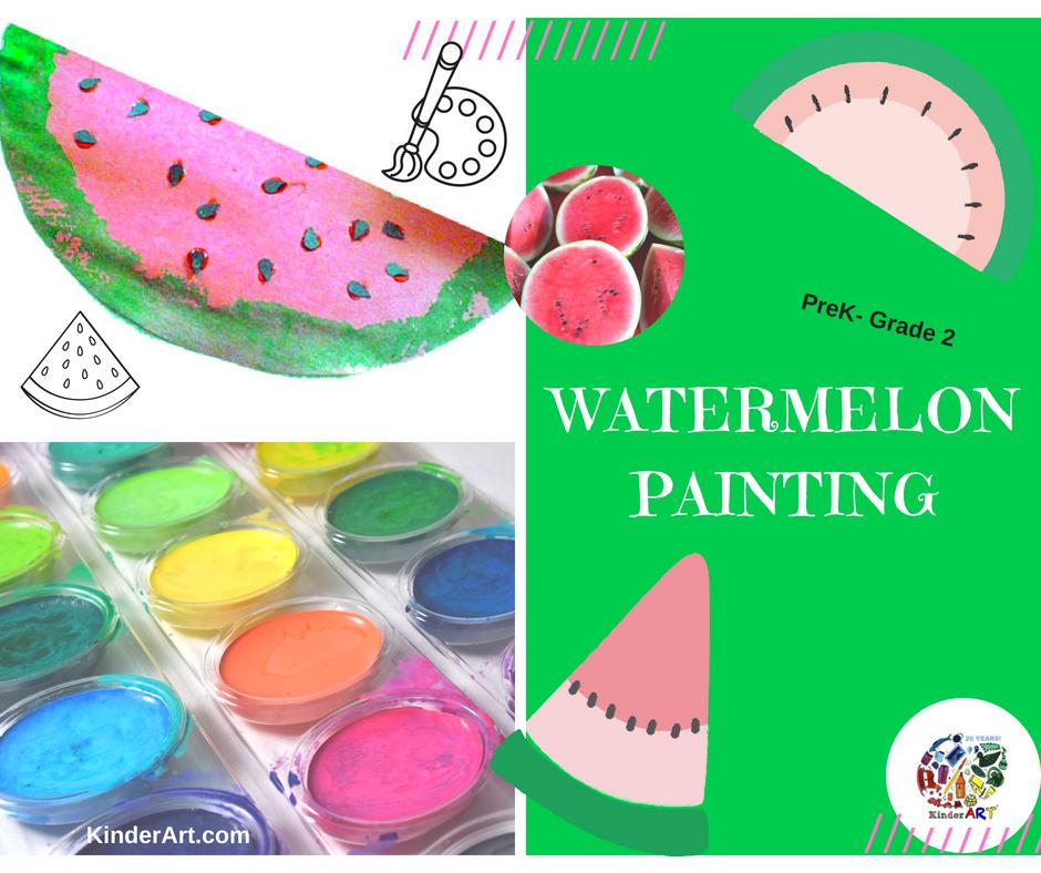 Watermelon Paintings art lesson