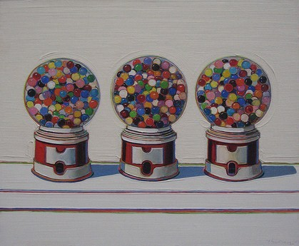 """Three Machines"" (1963), by Wayne Thiebaud"