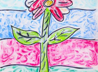 Wet chalk drawing lesson plan for kids
