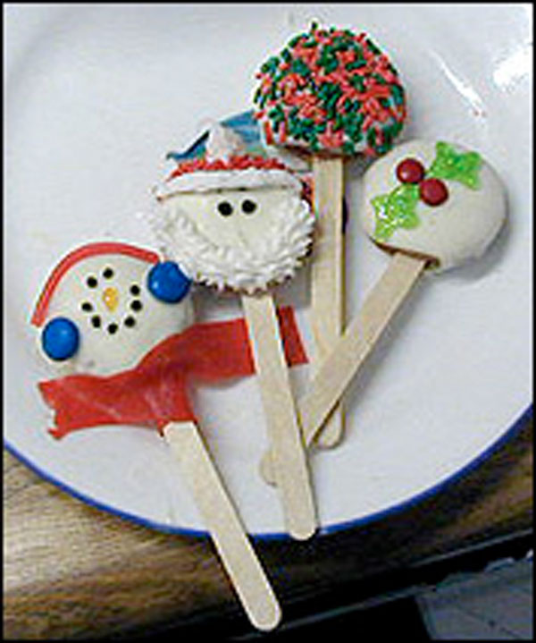 Winter Cookie Pops