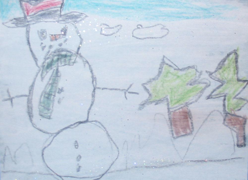 Winter Crayon Resists