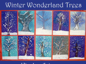 Winter Wonderland Trees. KinderArt.com