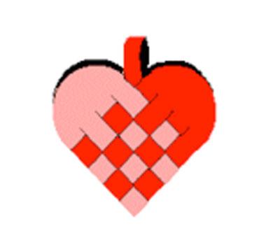 Woven heart baskets. KinderArt.com