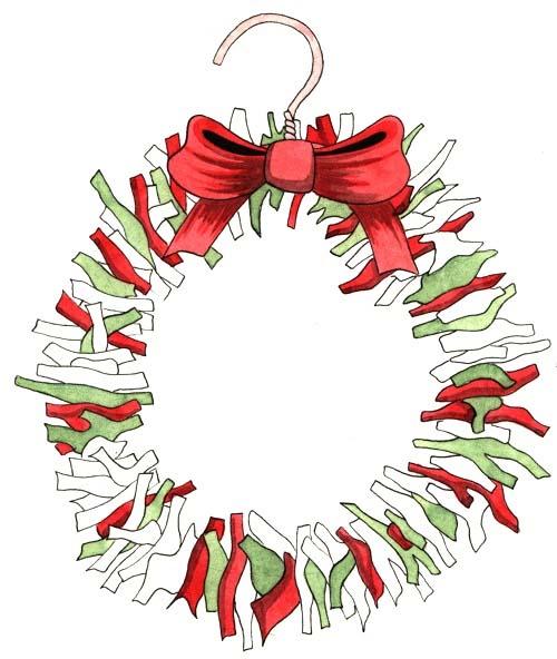 Fabric Wreath Craft. KinderArt.com