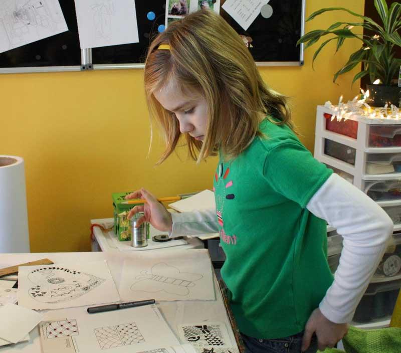 Zentangles. KinderArt.com.